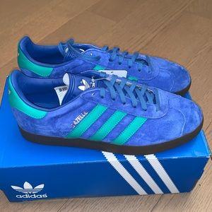 Adidas Gazelle suede blue/green